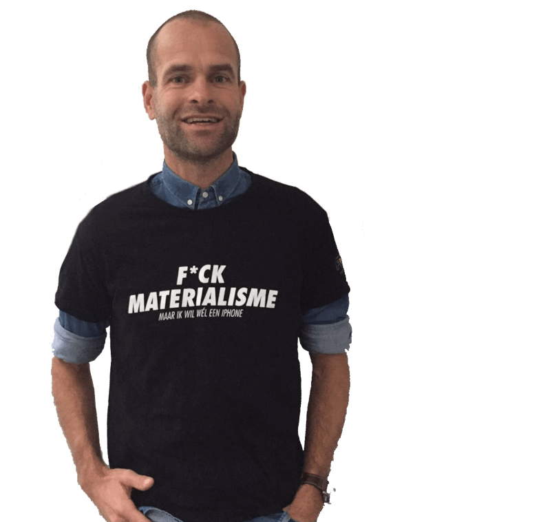 F*ck materialisme t-shirt Erben Wennemars