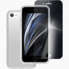 iPhone 6S, 7, 8 en SE 2020 screenprotector en hard hoesje transparant