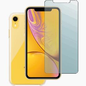 iPhone XR screenprotector en hoesje transparant