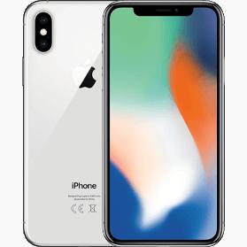 Refurbished iPhone X 256GB Zilver