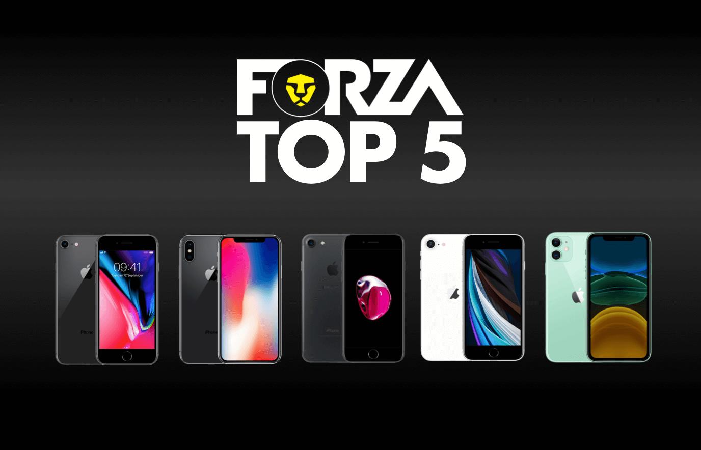 Forza refurbished top 5 iPhones
