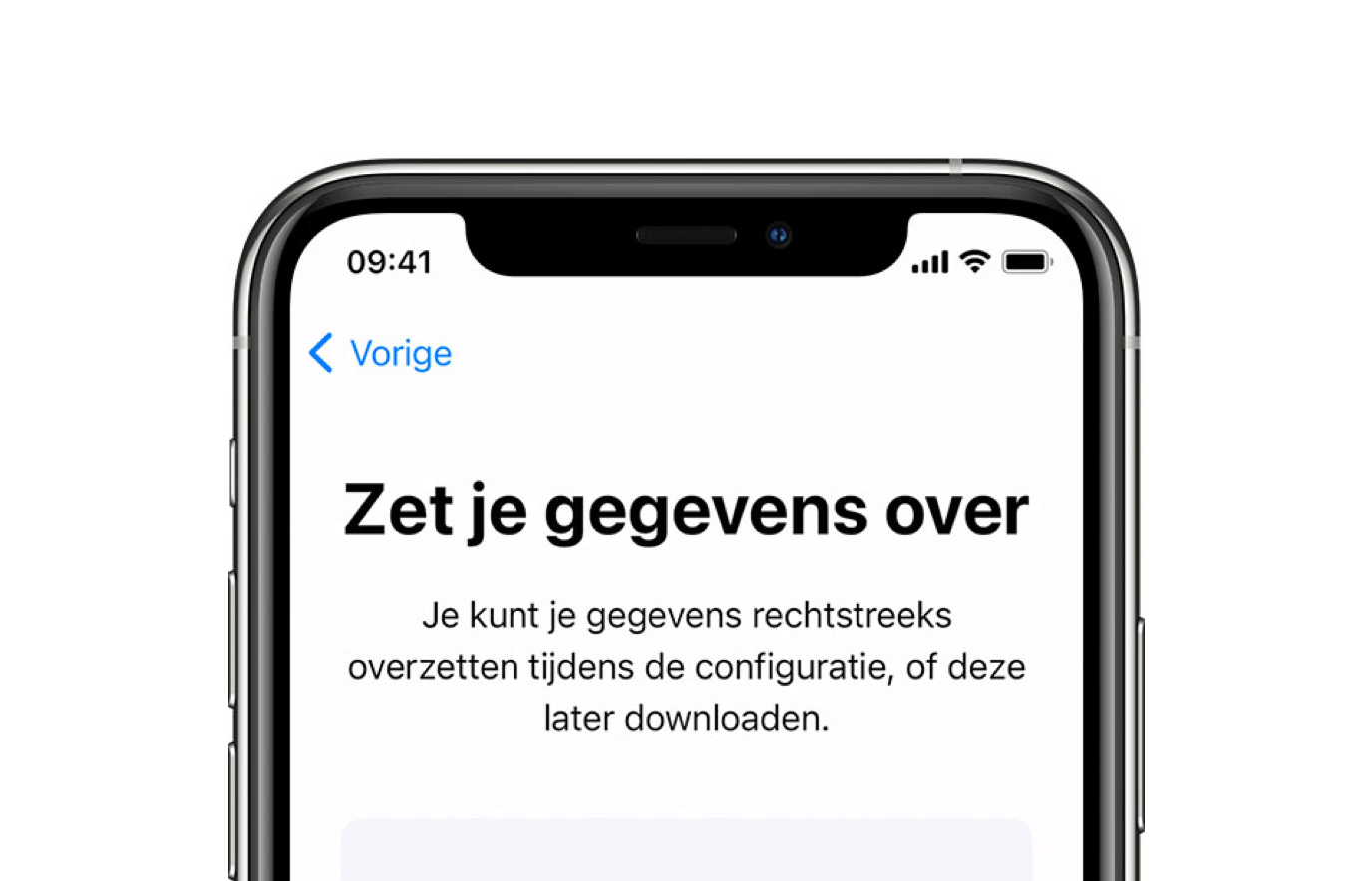 Stel snel je iPhone in met Quick Start