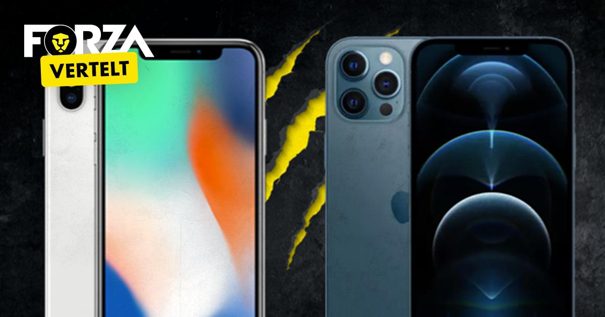 iPhone X vs iPhone 12 Pro