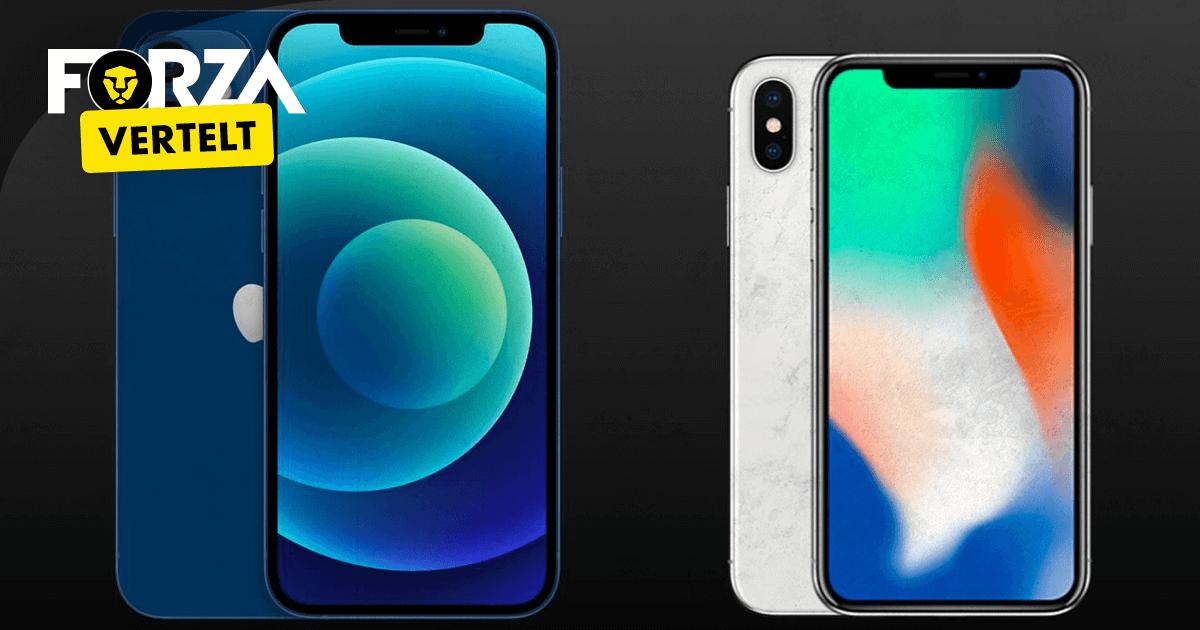 iphone x vs iphone 12