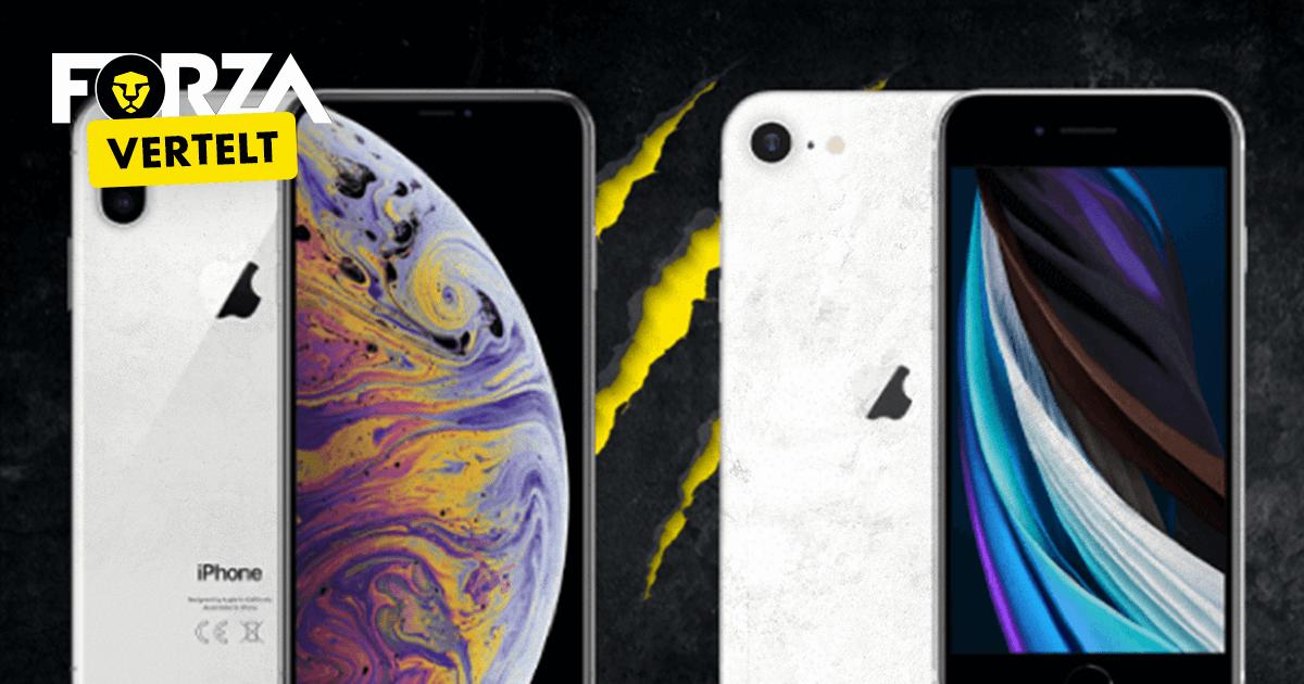 iPhone XS vs SE 2020