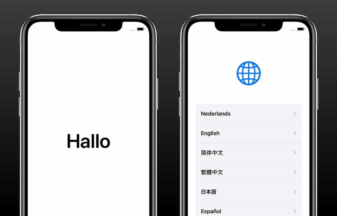 Nieuwe iPhone instellen
