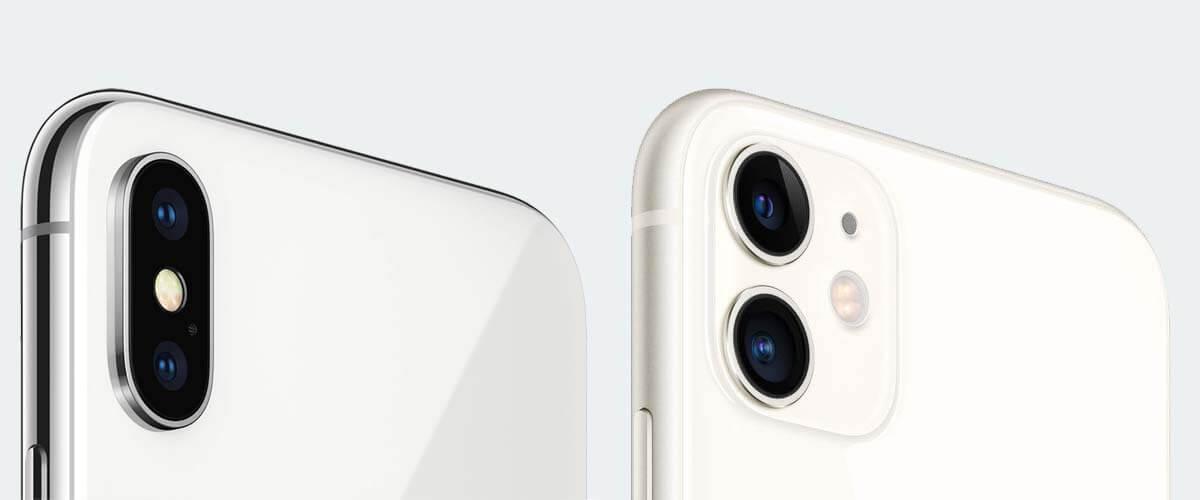 Verschil iPhone X en 11 camera