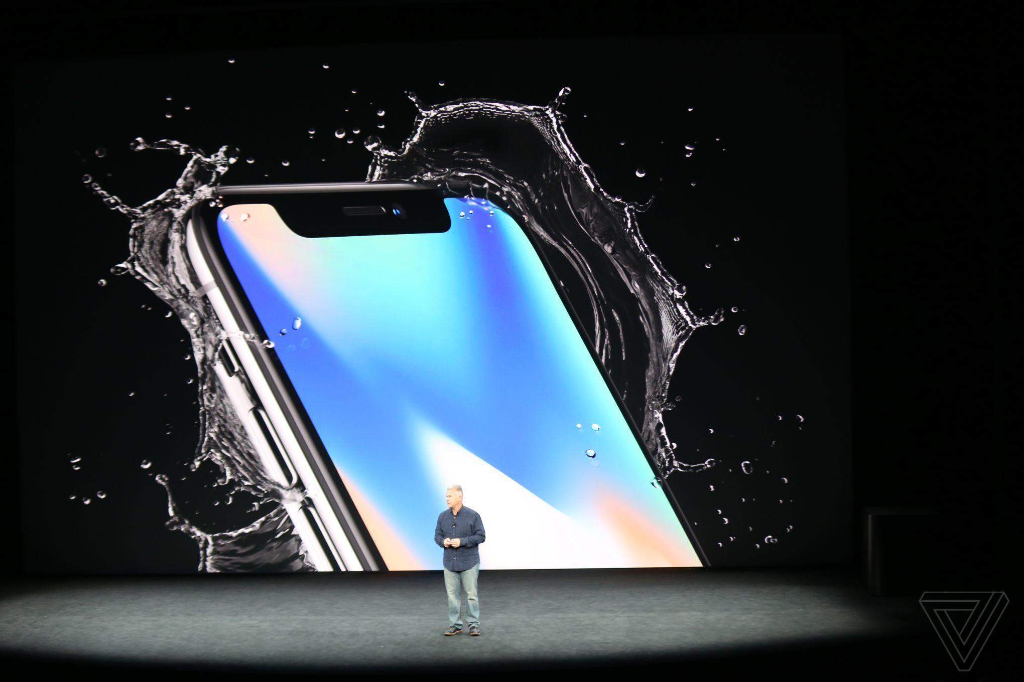 iPhone X aankondiging tijdens het Apple event