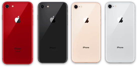 iPhone 8 Space Grey, Silver, Gold, Red