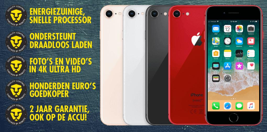 voordelen refurbished iPhone 8 bij Forza