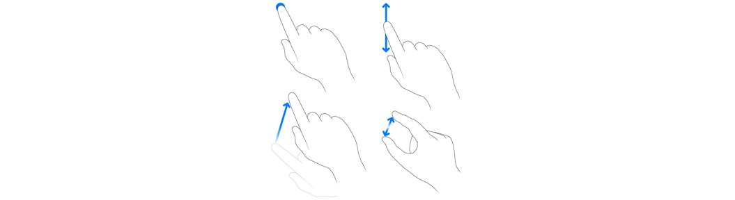 algemene gebaren iphone