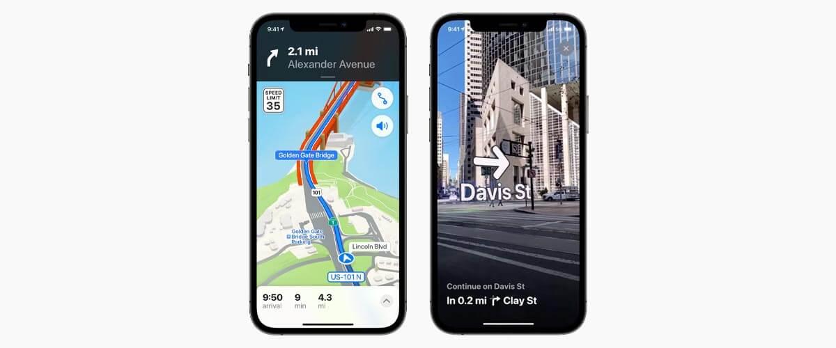kaarten app - maps ios15