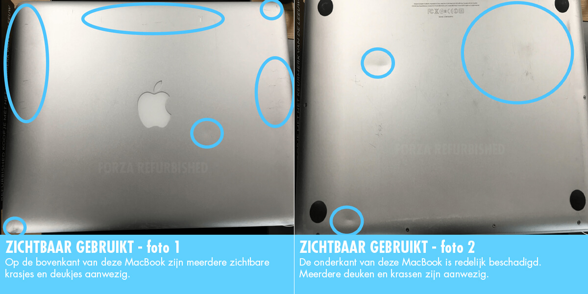 MacBook C-grade: zichtbaar gebruikt