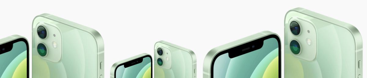 iphone 12 mini groen randen